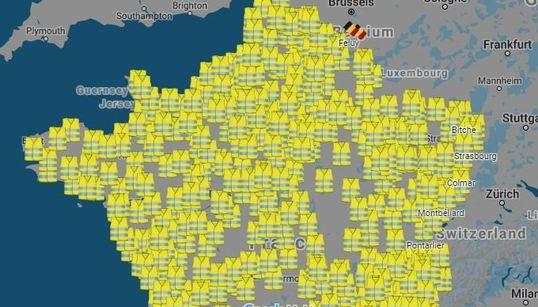 La carte des 400 manifestations des