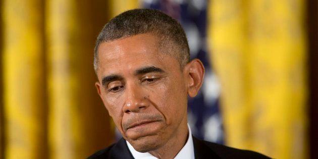 Barack Obama durant une conférence de presse sur les midterms à Washington le 5 novembre