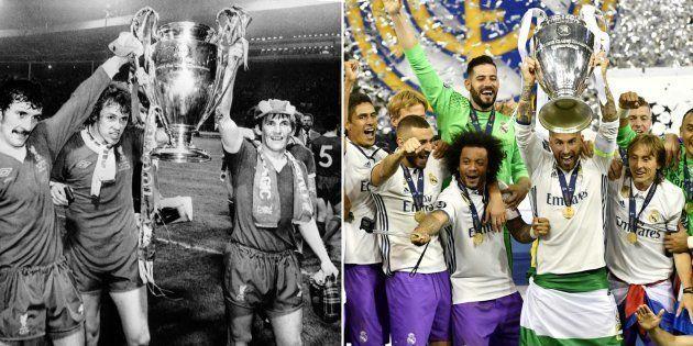 Finale de la Ligue des Champions: quand le Liverpool des années 70 (à gauche) était le Real Madrid