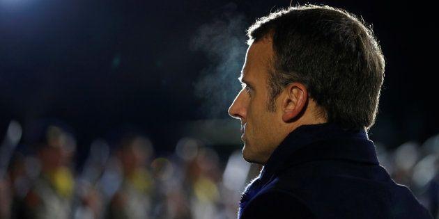Emmanuel Macron en commémoration de la Grande guerre à La Flamengrie ce mercredi 7