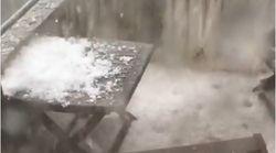 Les images de la violente tempête de grêle qui s'est abattue sur