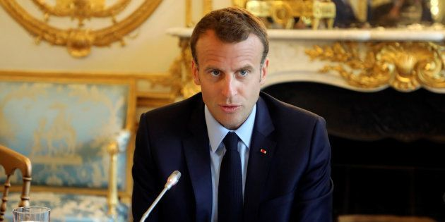 Emmanuel Macron à l'Elysée le 22