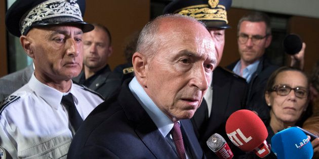 Gérard Collomb dans les quartiers nord de Marseille le 24