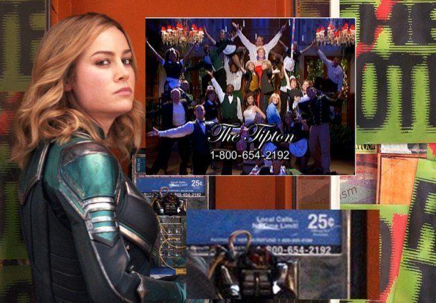 Le numéro présent sur la photo de Captain Marvel est le même que le numéro fictif de la série