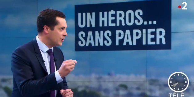 Nicolas Bay, vice-président du FN, sur le plateau de France 2 lundi 28 mai