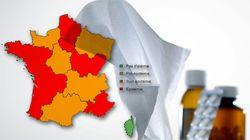 Faites-vous partie d'une des régions touchées par l'épidémie de grippe ou de