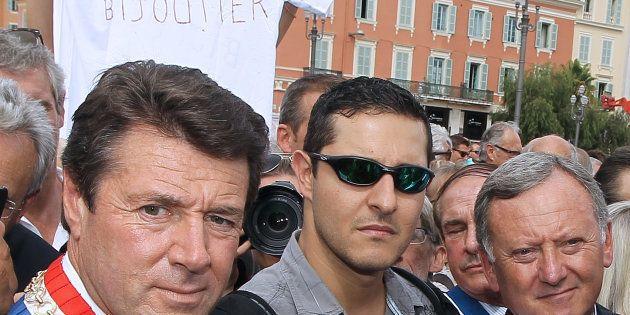 Christian Estrosi, ici lors de la manifestation de soutien au bijoutier de Nice en 2013, parle aujourd'hui