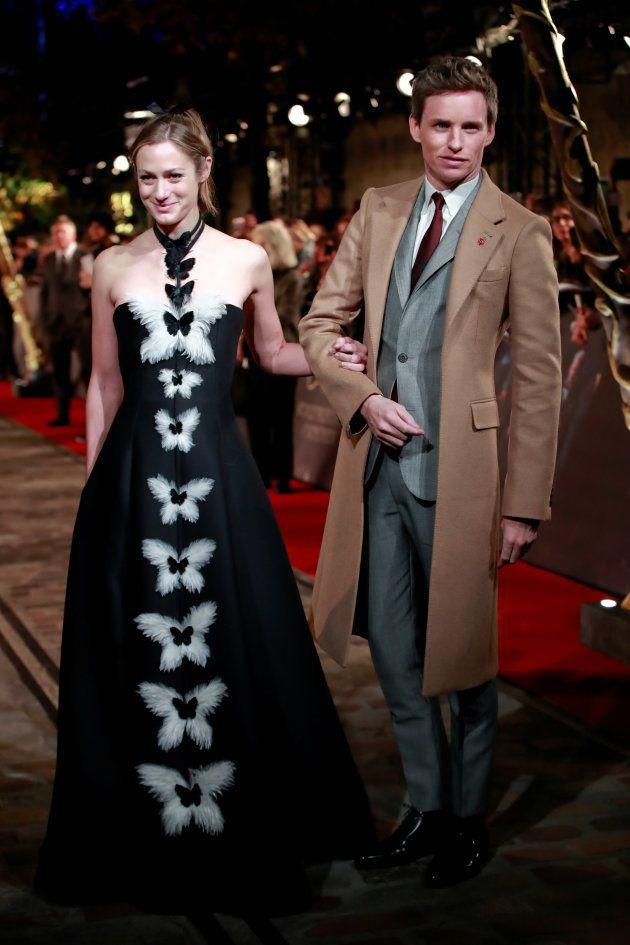 Eddie Redmayne et sa femme sur le tapis