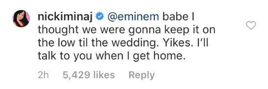 Nicki Minaj et Eminem en couple? Ils s'amusent avec humour des