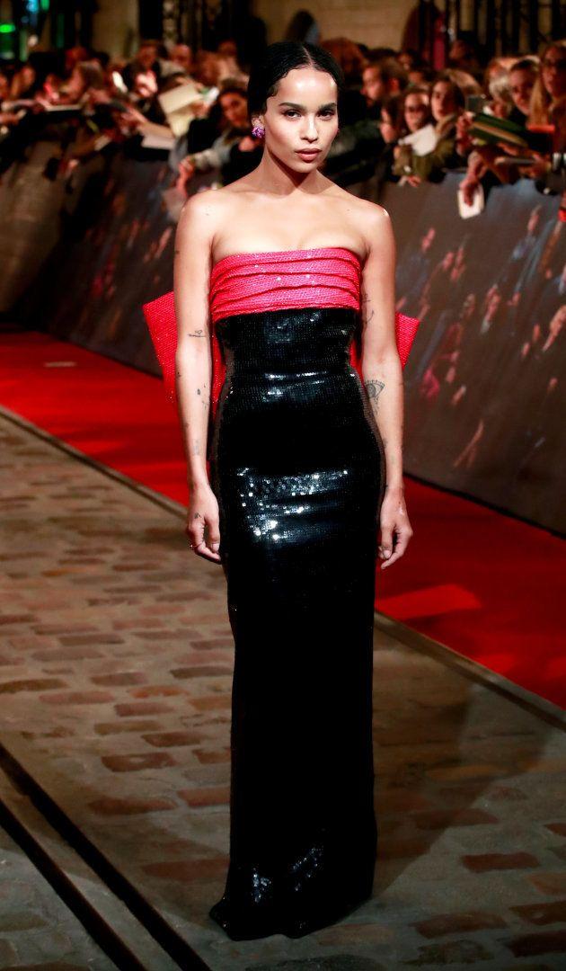 Zoe Kravitz illumine le tapis rouge