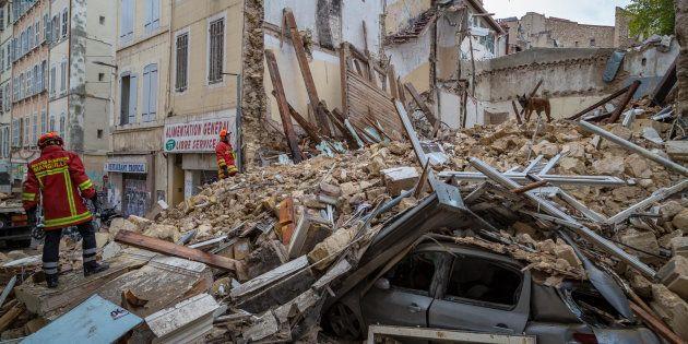 Un huitième corps a été retrouvé dans les décombres du quartier de Noailles, à Marseille (ici le 5