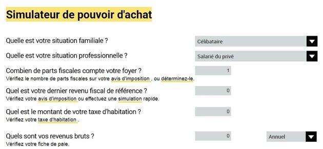 Le site economie.gouv.fr simule vos gains de pouvoir d'achat grâce aux réformes (à un GROS détail