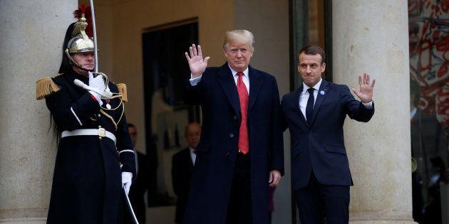 Emmanuel Macron accueille Donald Trump à l'Elysée samedi 10 novembre, dans le cadre de sa venue pour...