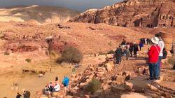 Le site antique de Petra, en Jordanie, submergé après des pluies
