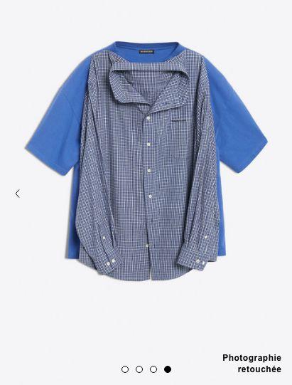 chemise tee shirt balenciaga