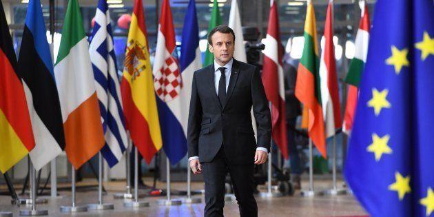 Comment Emmanuel Macron (ici à Bruxelles en 2017) veut faire du forum de Paris