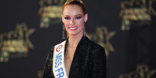 Maeva Coucke, Miss France 2018, sur le tapis rouge des NRJ Music Awards 2018 à