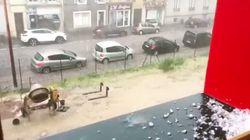 Les images des violents orages qui s'abattent sur la