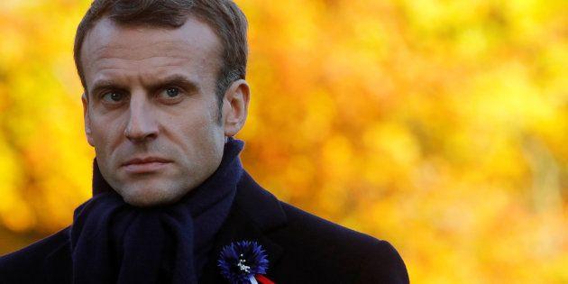 Les quatre suspects voulaient s'en prendre à Emmanuel Macron (ici à Thiepval le 9 novembre) lors de