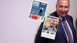 La Une du Figaro en berne après la mort de Dassault, celle de Libé plus