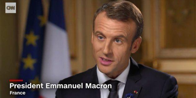 Emmanuel Macron en interview à CNN le 10 novembre