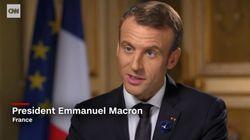 La pique pas très discrète de Macron à Trump dans une interview à