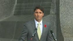 Ce discours de Trudeau sous la pluie très partagé en réponse à la visite annulée de