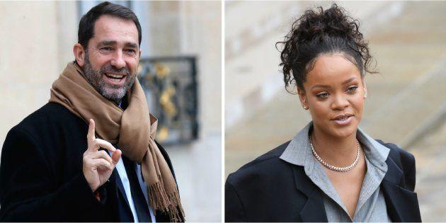 Christophe Castaner dresse le portrait de Rihanna et fait son mea