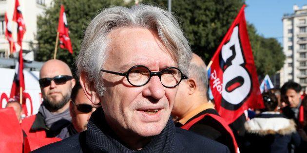 Jean-Claude Mailly, l'ancien secrétaire général de Force Ouvrière, lros d'une manifestation à Lyon le...