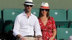 Pippa Middleton et son mari en amoureux dans les gradins de