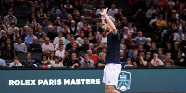 Richard Gasquet fin octobre après son élimination par l'américain Jack Sock, au 2e tour de Masters 1000...
