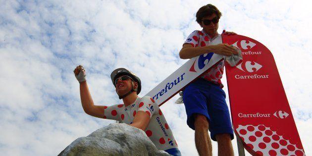 Carrefour ne sera plus sponsor de l'équipe de France ni du Tour de France en 2019 (photo: une pub Carrefour...