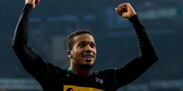 Alassane Pléa lors de Borussia Mönchengladbach-Werder Brême le 10 novembre