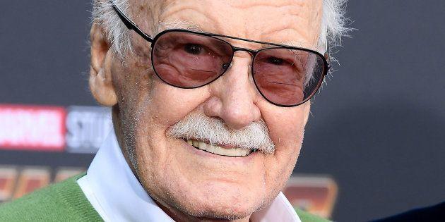 Stan Lee lors de l'avant-première