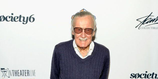 Stan Lee en 2017, à Los Angeles, à l'occasion d'une cérémonie organisée en son