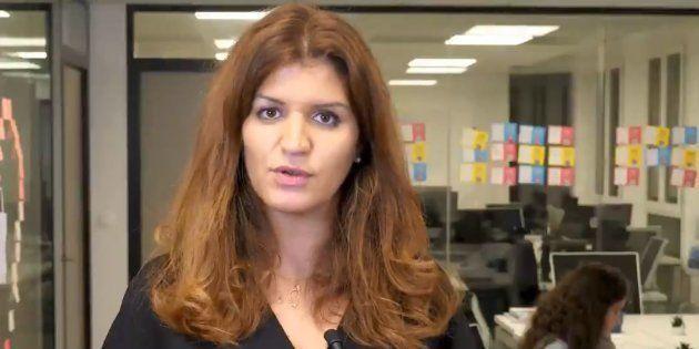 Marlène Schiappa, secrétaire d'état à l'égalité hommes-femmes, dans le clip diffusé par