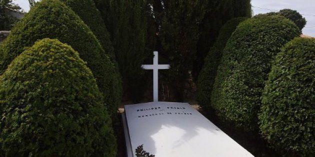 La tombe du maréchal Pétain vandalisée (photo d'illustration de la sépulture prise en