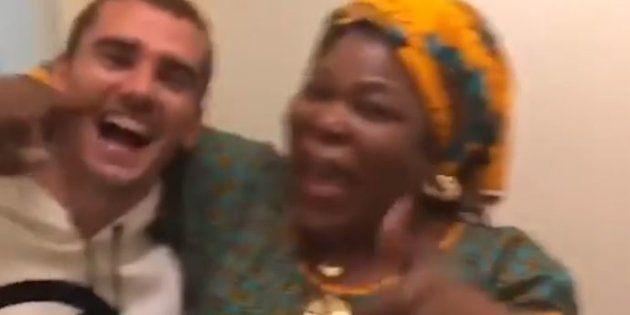 Antoine Griezmann et la maman de Paul