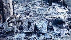 Liam Hemsworth montre ce qu'il reste de sa maison après l'incendie de