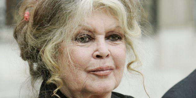 Brigitte Bardot après une rencontre à l'Élysée avec Nicolas Sarkozy, en septembre