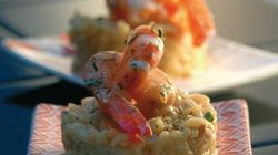 BLOG - Vite fait, bien fait, un risotto de crevettes au lait de coco pour récupérer entre les