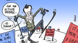 BLOG - Un virage à gauche, un à droite, Macron habitué du slalom au ski comme en