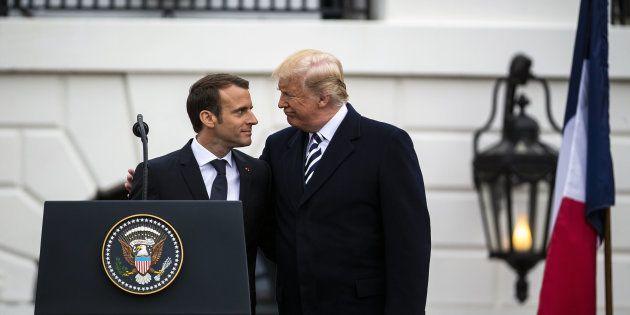 Emmanuel Macron et Donald Trump à Washington le 24 avril