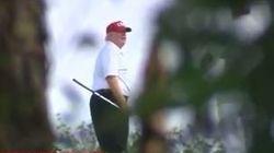 Trump avait promis d'être de retour au travail le lendemain de Noël, sauf qu'il a été filmé sur son