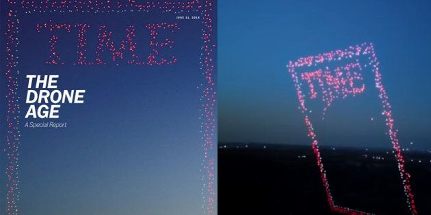 Cette couverture du Time sur les drones est faite uniquement de