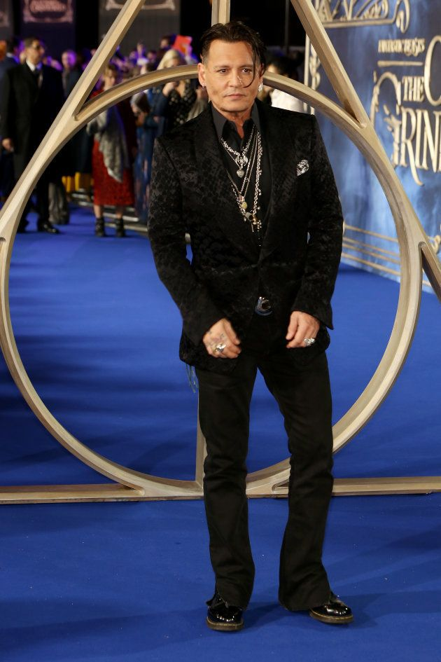 Johnny Depp à l'occasion de l'avant première londonienne du film