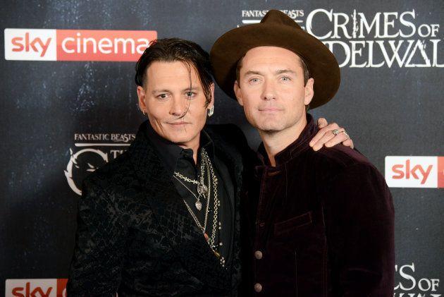 Johnny Depp et Jude law à l'occasion de l'avant première londonienne du film