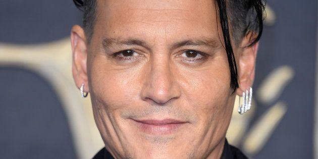 Johnny Depp à l'occasion de l'avant première londonienne du