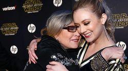 Un an après le décès de Carrie Fisher, l'émouvant message de Billie Lourd à sa