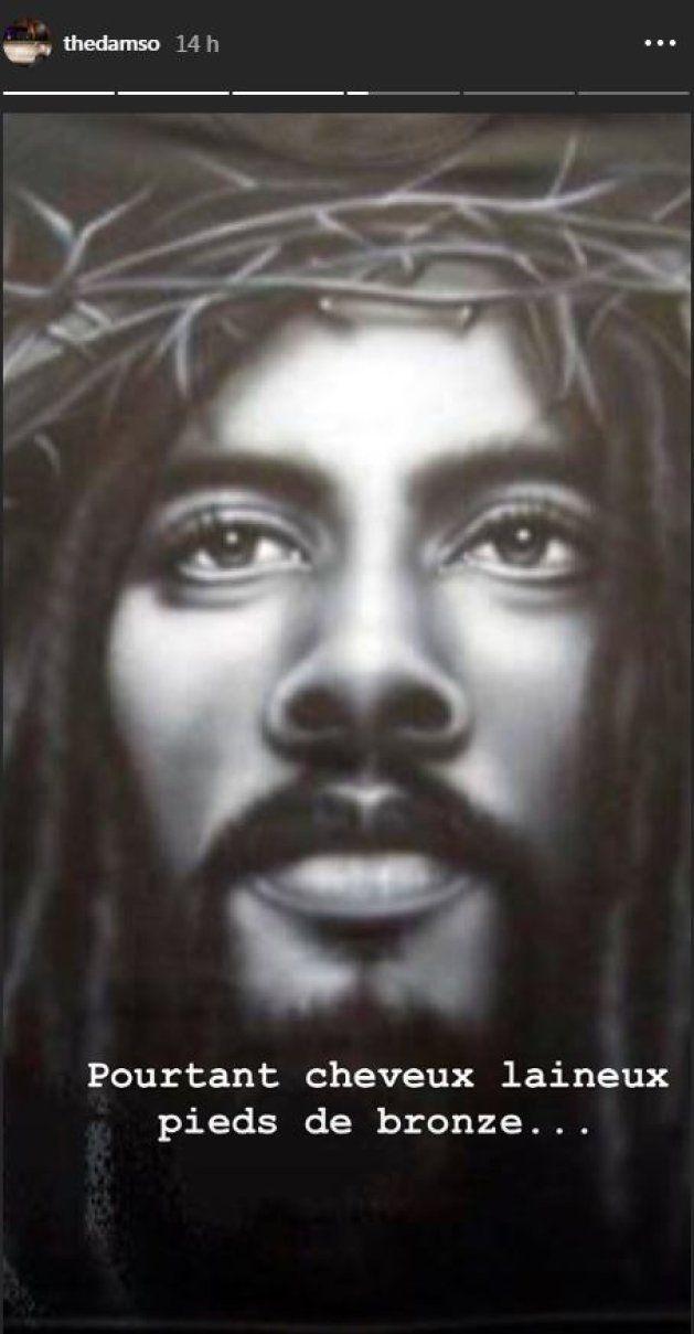 Damso partage une photo de Jésus, qui ressemble plus a Bob Marley qu'à la représentation que l'on peut...